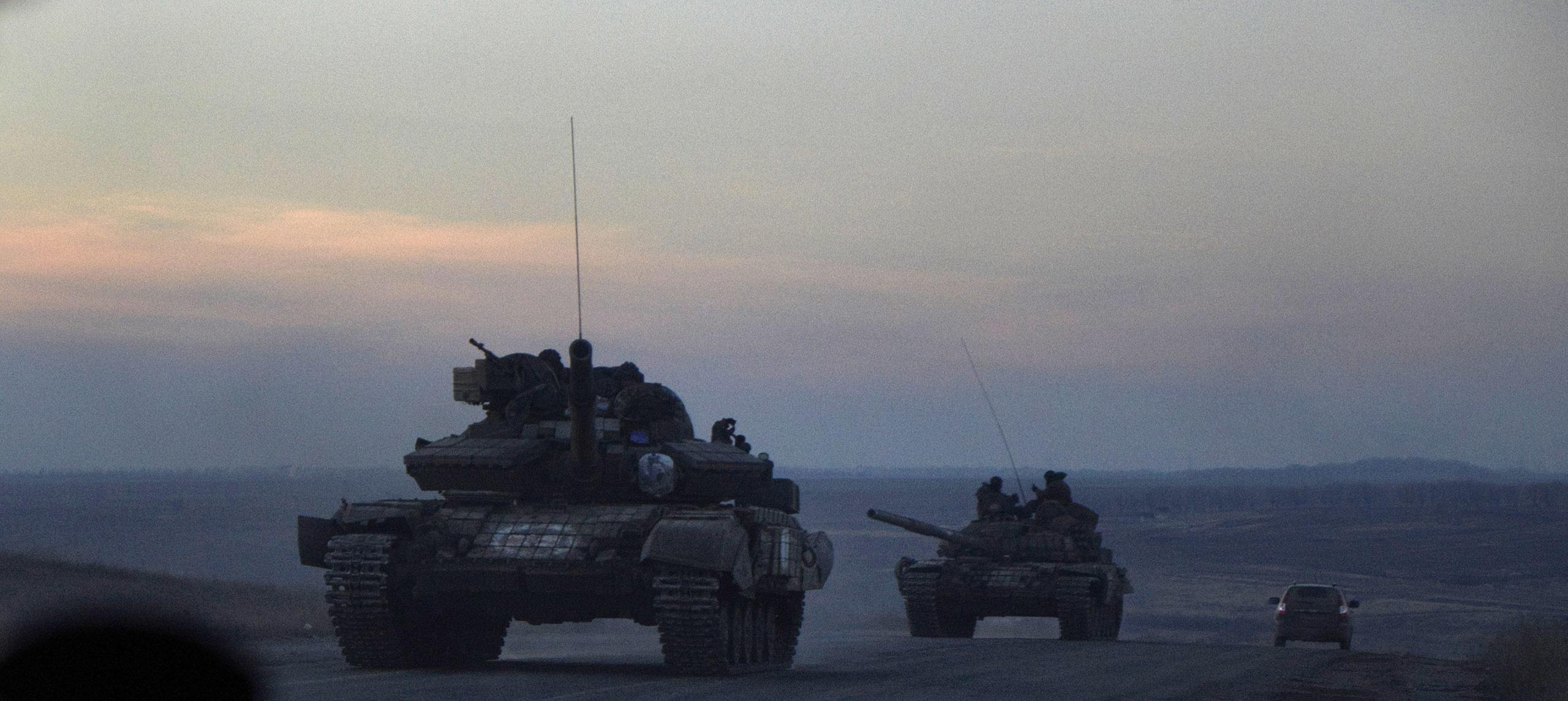 Dans l'ombre des tanks russes